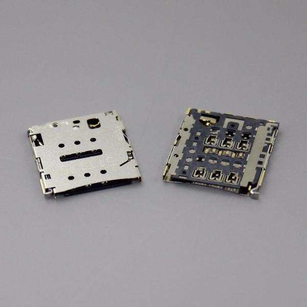 Al por mayor-10pcs / lot Original nuevo lector de tarjetas Sim titular Sockect para HUAWEI P6 teléfono móvil Tamaño de la ranura del módulo: 15.5 * 16.5mm