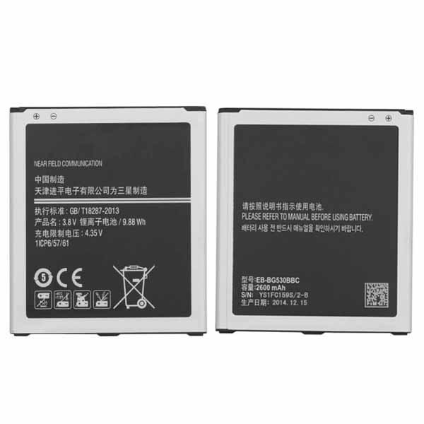 top popular Original OEM Grand Prime Battery EB-BG530BBC j5 j500 g530 g531 CellPhone Battery 2600mAh Free Shipping Wholesale 2019