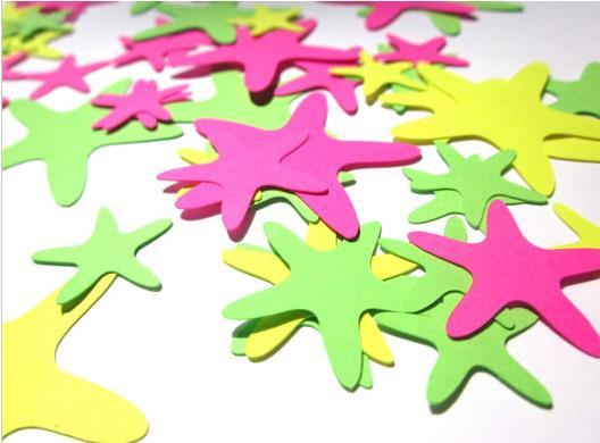 cheap Custom 150pcs glitters Starfish confettis wedding table scatters Christmas bridal shower bachelorette party decorations Event