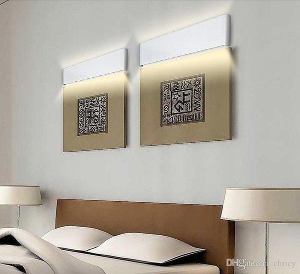 modern minimalist 72cm led wall lights 24w aluminum led wall sconces bedside lights ac85-265v lamparas de pared indoor lighting