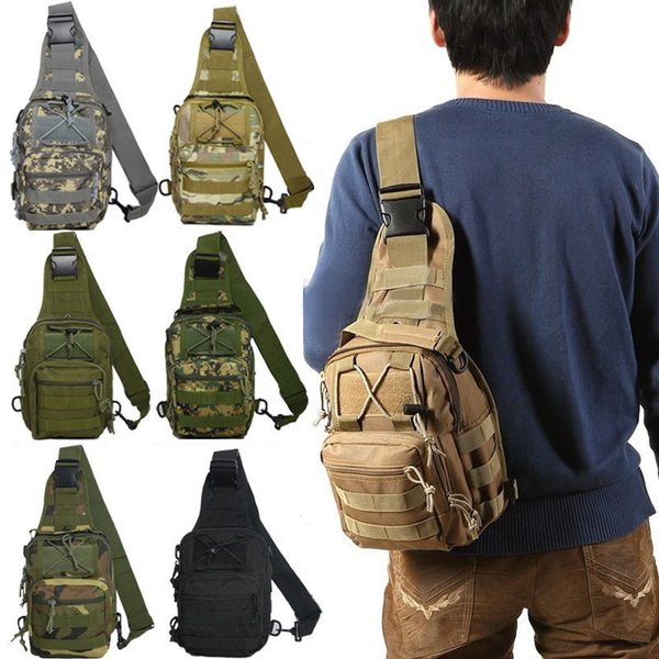 8 Color Men Outdoor Sport Camping Hiking Camouflage Shoulder Chest Bag Tactical Travel :Casual Cross Body Sling Waist Pack