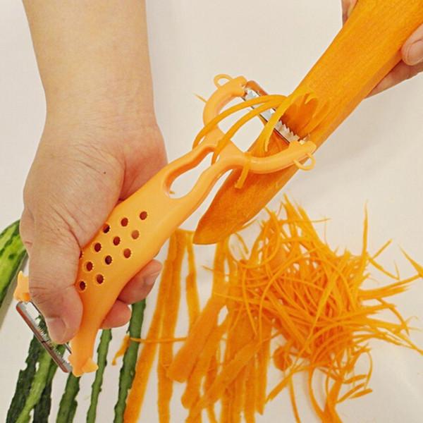 Cucina Accessori Grattugie in acciaio inox Parer affettatrice Gadget Verdura Frutta Rapa Tagliatelle Fresa Trituratore per carote