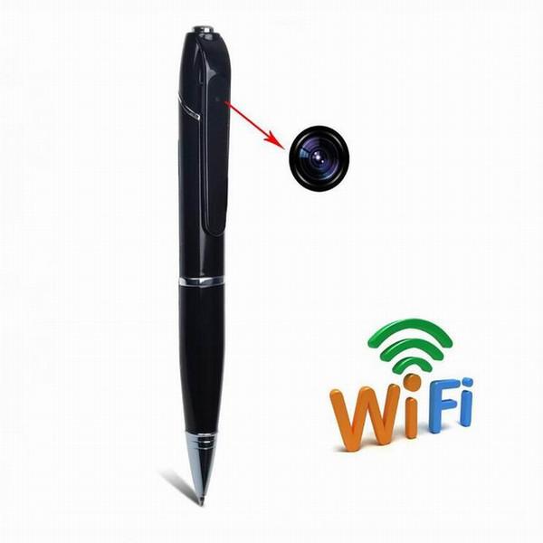 Whole sale HD WIFI Pen Camera Wireless Remote monitor 720P Security Mini Audio Video recorder WIFI P2P Pen DVR for IOS Android