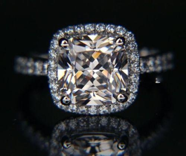Lady's Silver Diamon White Sapphire Ring Size 5/6/7/8/9/10 Designer-inspired