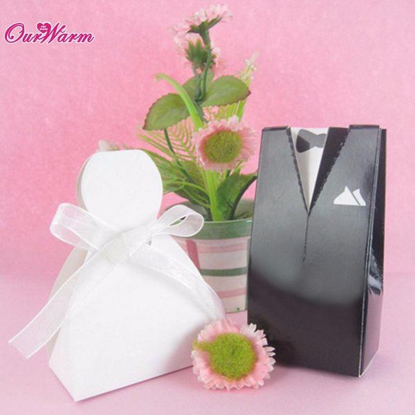 Günstige 12Pcs Süßigkeitskästen für Hochzeits-Dekoration Romantische Mann und Frau Design Pralinenschachtel Hochzeit Gefälligkeiten und Geschenke für Gast $ 16 keine trackin