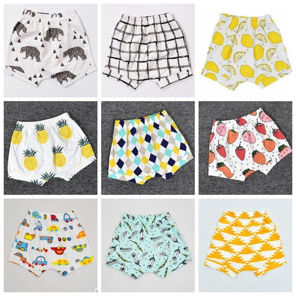 Kids Ins Haroun Pants Shorts Beach Pants Leisure Cotton Pants INS Lemon Pp Pants Baby Ins Animal Fox Tent Shorts 36Color A1249 200