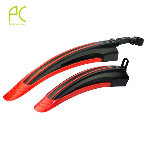 PCycling 6 Colors New Bike Bicycle Road Front Rear Mudguard Fender Mud Guard Cycling Accessories 1 Pair Extended Edition