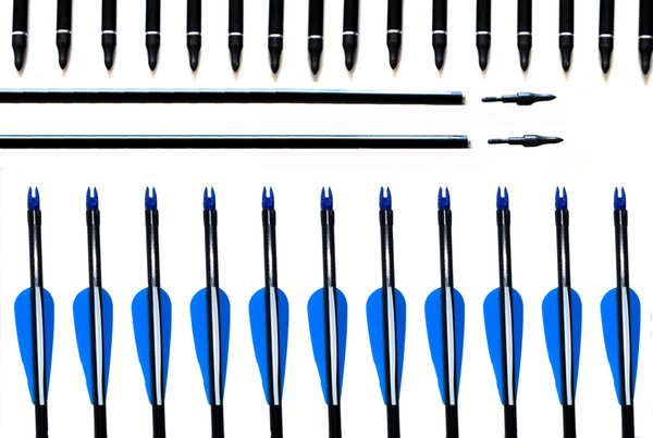 Free shipping 12 pcs Hunter Archery traditional fiberglass arrow Nocks Fletched Target Practice black color Hunting