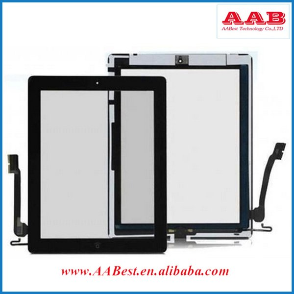 factory price aaa quality touch screen for ipad 4 digitizer replacement