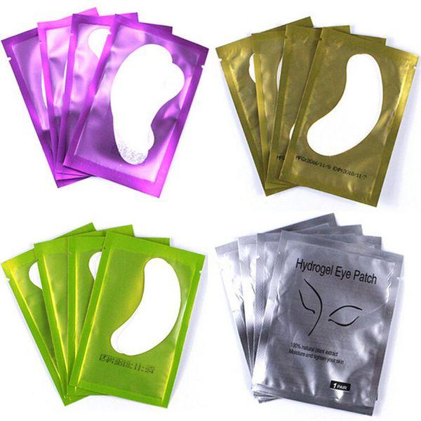 50 çift / paket Kirpik Uzatma Kağıt Yamalar Aşılı Göz Çıkartmalar Altın Kirpik Göz Pedleri Altında