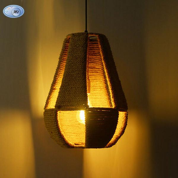Cáñamo Mano 2016 Edison Compre Lámpara Lamparas Retro Colgantes Campo Loft Nueva Cuerda Llegada Luces Vintage Bombilla De Estilo E27 A Novedad Tejido nwOPk0