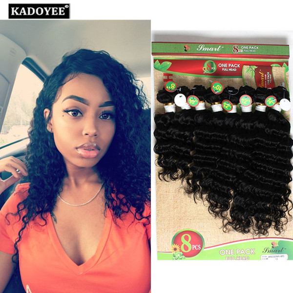 8pcs per pack for full head black Kinky curly Brazilian virgin human hair water Weave Wet And Wavy Ombre jerry curly Hair Bundles