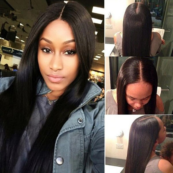 8A Full Lace Human Hair Wigs For Black Women