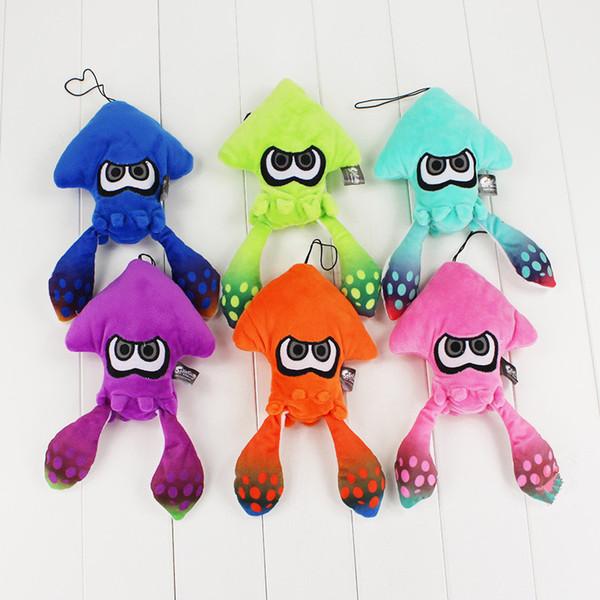 Splatoon Inkling Squid Plush Toys 25cm Cartoon sea Apuatic Animal Octopus Soft Stuffed Dolls Six Colors Kids Gifts Collection