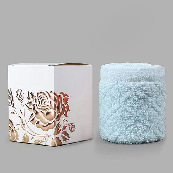 Creative Cake Towel Gift Washcloth Bath Shower Face Soft Towel Present Box Wedding Christmas Party Favor ZA4539