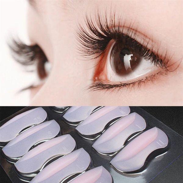10pcs Silicone Eyelash Permanent Perm Curler Curling Root Lifting False Fake Eyelash Shield Pad Maquillaje Patches
