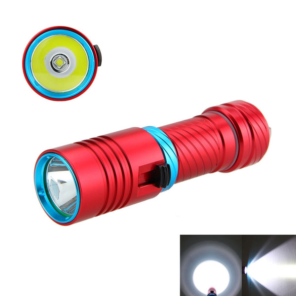 2300LM Scuba Diving 100m CREE XM-L2 LED Underwater Flashlight Torch Light Waterproof 18650/26650 Free Shipping