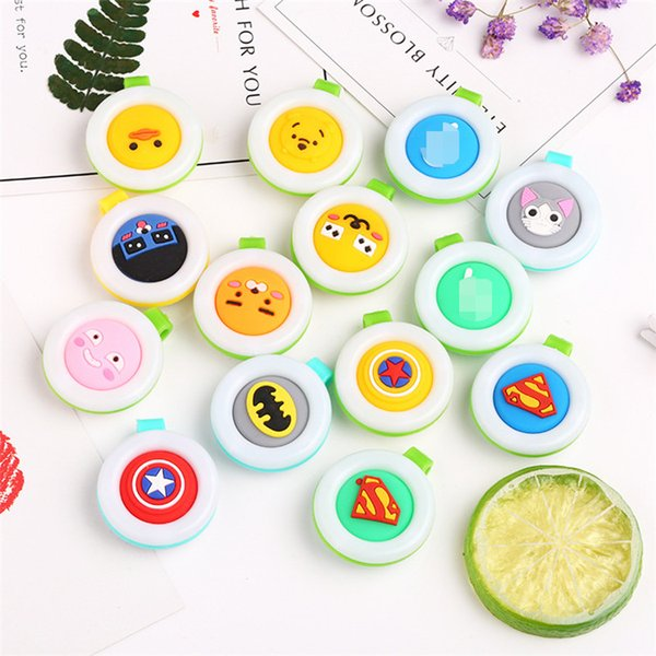 best selling Mosquito Repellent Badge Button Buckle Colorful Cartoon Cute Baby Pregnant Woman Mosquito Repellent bracelet 13 Designs IB328
