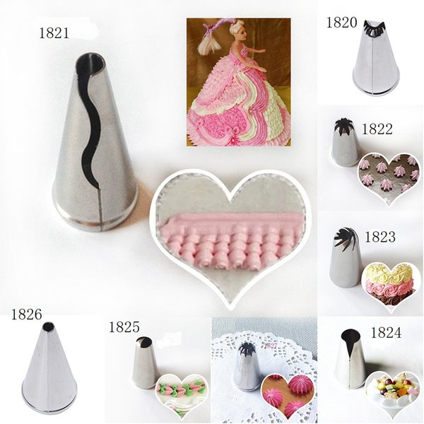 Wholesale- Icing Nozzles Stainless Steel Pastry Tube Cream Icing Piping Tips Nozzle Fondant Cake Decor Cake Tools Kitchen Tool On Sale