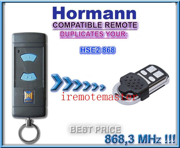 2 pieces/lot ! Aftermarket Hormann HSE2 868, universal remote control replacement garage doore remote 868.3MHZ free shopping