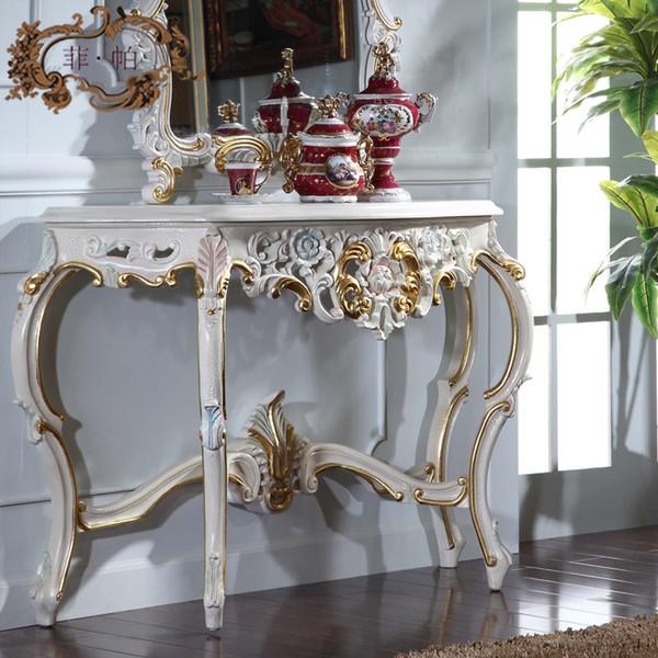 antique hand carved wood furniture- soild wood gold foil leaf gilding console table