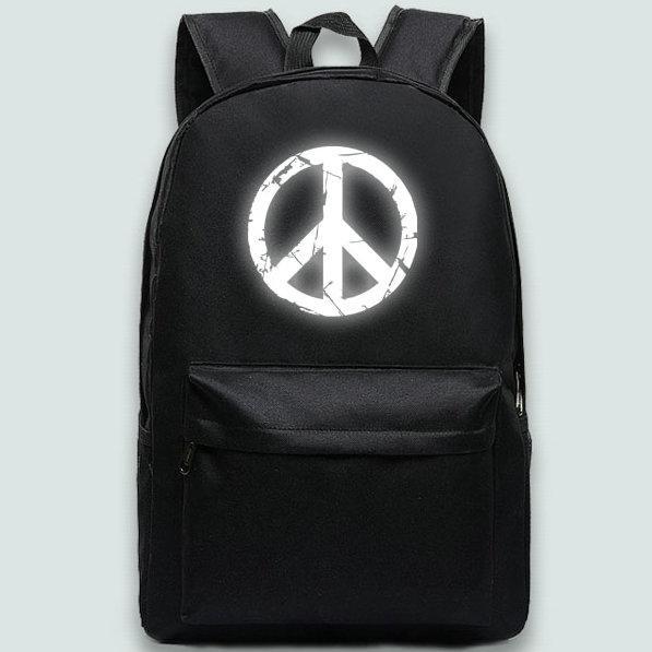 Peace walker backpack Metal gear solid daypack Antinucleus logo schoolbag Game rucksack Sport school bag Outdoor day pack