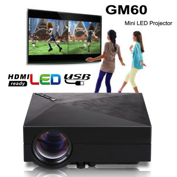 2016 New GM60 Mini Portable LED Projector 1000Lumens FULL HD 1080P USB VGA AV SD For Video Games TV LCD Home Theater Proyector Cinema Beamer