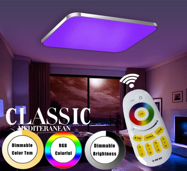 2019 Modern Led Ceiling Lights Living Room 2 4g Remote Group Controlled Dimmable Color Changing Home Ceiling Lamp Luminaire Light From Wyiyi 133 67