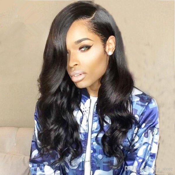 Human Hair Wigs Body Wave Color 1b Hot Malaysian Hair Small Size Full Lace Wigs Stocked Factory Price