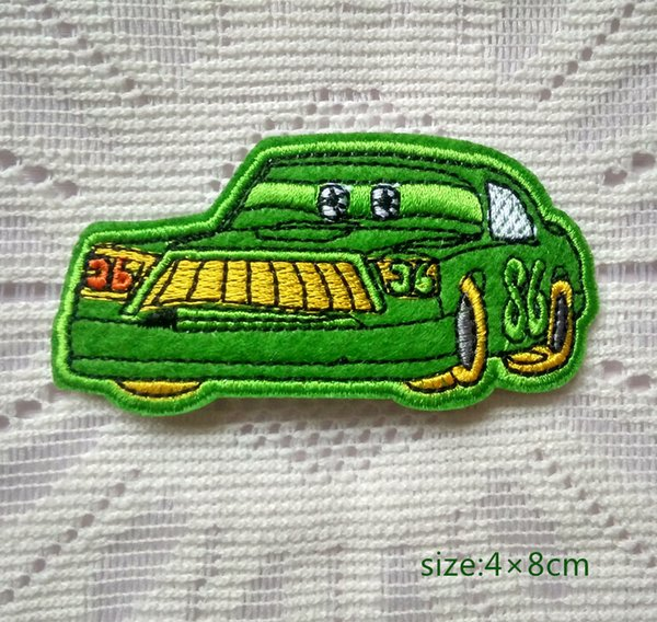 Green Car ricamato Iron On Patch Applique Decorate Toys Shirt Kids Toy Gift Baby Decora l'individualità
