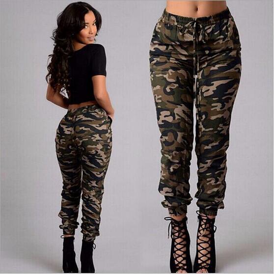 Nuevo verano camuflaje para mujer pantalones mujer militar moda impresión deportes al aire libre sueltos pantalones casuales pantalones de entrenamiento escalada