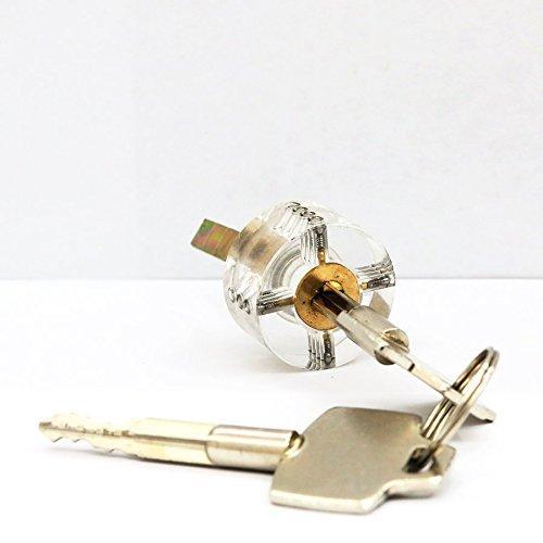 Bloqueio de formação Professional Cutaway Dentro da visão da prática Bloqueios de chave Escolha de habilidades de treinamento para serralheiro Cross Key Lock Clear Lock