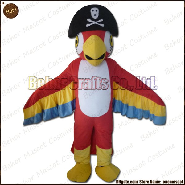 Pirate Parrot mascot costume EMS free shipping, cheap high quality carnival party Fancy plush walking Parrot mascot adult size.