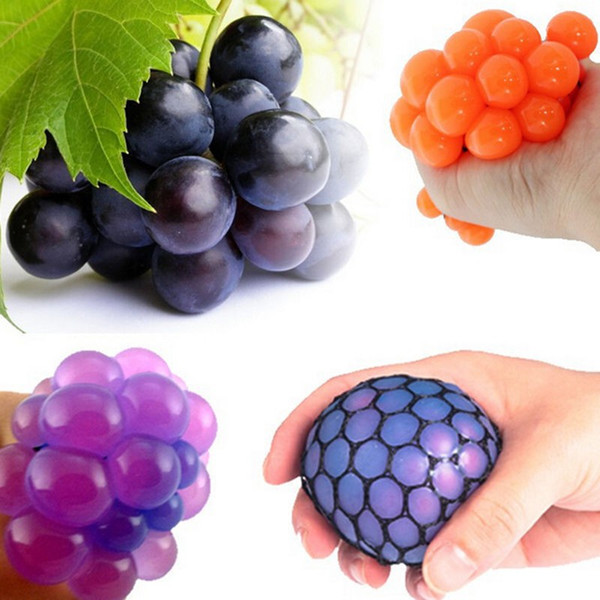 best selling New Anti Stress Ball Novelty Fun Splat Grape Venting Balls Squeeze Stresses Reliever Toy Funny Gadgets Gift