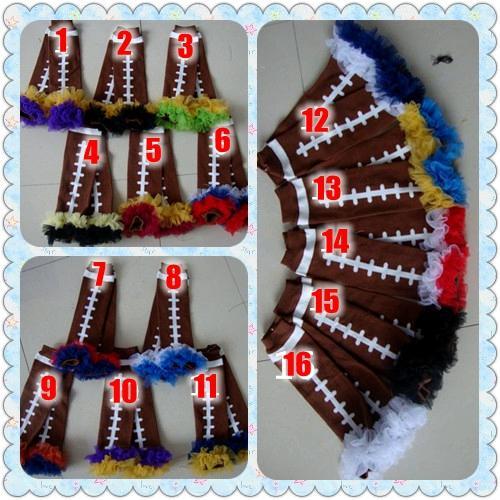 Calentador de piernas con volantes de 16 colores Calentadores de piernas apretados para bebés Fluffies Ruff de gasa Calentadores de encaje de fútbol para bebés y niños Leggings con volantes para bebés