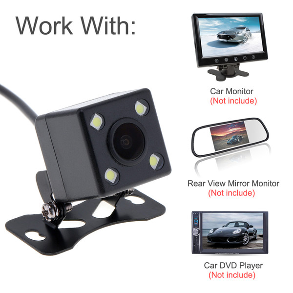 Universal CCD Night Vision Car Dynamic Reversing Trajectory Rearview Backup Camera Wide Angle with Auto-changeable Parking Lines CAL_00W