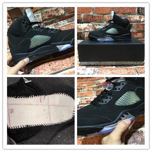 new cheap 5 OG Black Metallic new design wholesale V 5s boy basketball shoes online hot good quality free shipping