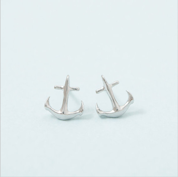 c3657854c gold anchor stud earrings Coupons - Wholesale 10pair lot Fashion Jewelry  Minimalist Wedding Accessories Tiny Anchor