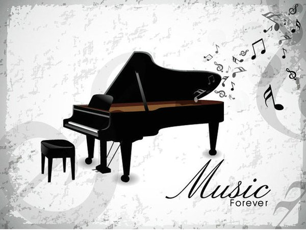 Free Shipping High Quality Piano Music PVC Living Room Background Wall Decal Kids Bedroom Sticker