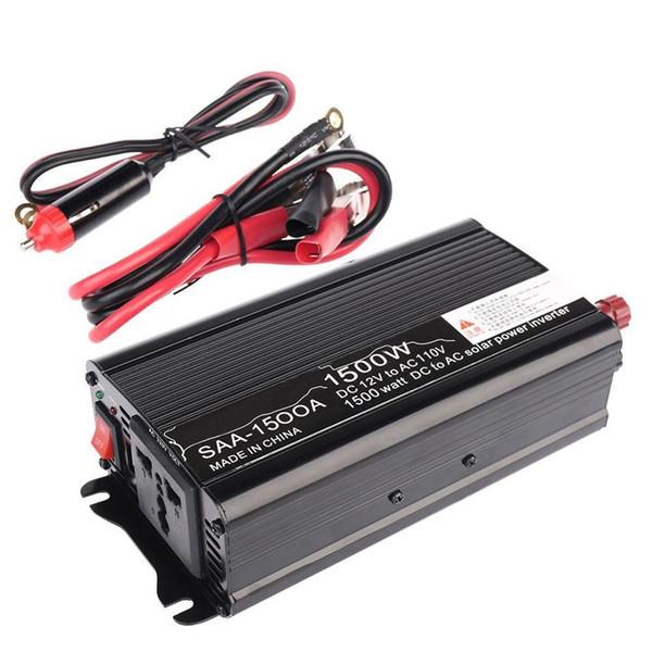 DHL 5 ADET 1500 W 12 V ~ 110 V 3000 W Tepe 12 V DC Için 110 V AC Araba Güneş Enerjisi Inverter Dönüştürücü Adaptör Modifiye Sinüs Dalga Dönüştürme