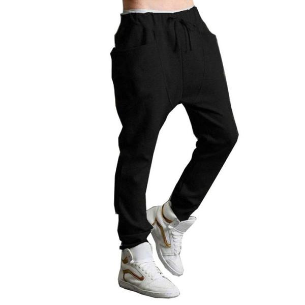 Wholesale-D6li 1PC Men Boy Harem Baggy Hip Hop Dance Sport Sweat Pants Slacks Trousers New Fashion Feb1 RV