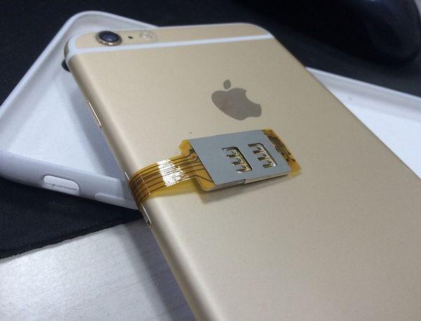 Adattatore dual SIM e singolo appoggio per iPhone 6 / 6S Plus per GSM / WCDMA / CARD TD-LTE SIM