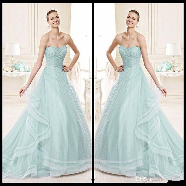 Discount Elegant 2016 Bridal Collection Wedding Dresses Sweetheart ...