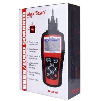 Lo strumento diagnostico di MaxiScan MS509 Autel OBDII OBD2 EOBD automobilistico lettore lettore di codice funziona per l'automobile europea asiatica degli Stati Uniti