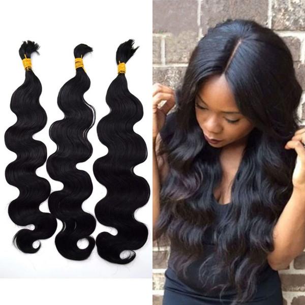 Natural Color Body Wave Human Hair Bulk 100% Unprocessed Malaysian Hair Bulk for Braiding 8-28 inches G-EASY