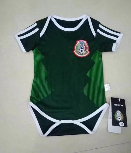 2018 BABY Camisa de futebol México Espanha Argentina Suécia Rússia Bélgica Colômbia Macacão bebê 1 - 2 anos BOYS GIRLS camisas de futebol