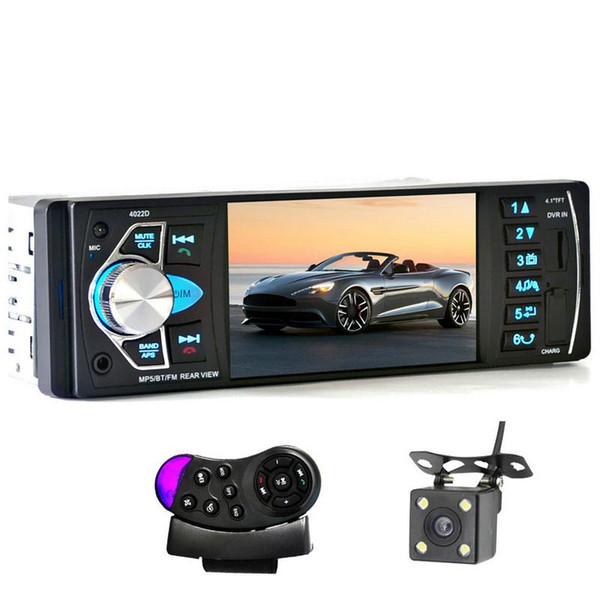 5PCS 4022D 4.1 Inch 1 Single Din Car MP5 Video Player TFT Screen Stereo Audio FM Auto Remote Control with Rear View Camera mp3