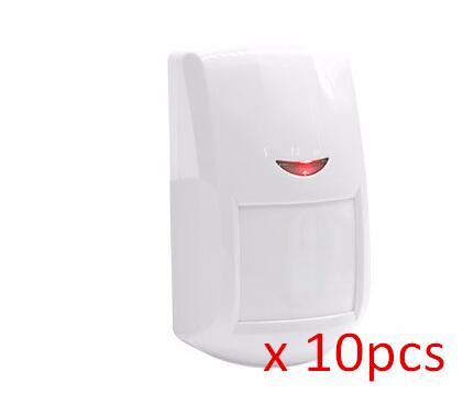 Wholesale- High quality new 10pcs White infrared detector wireless GSM alarm system 433 MHZ for Home Burglar Security alarm