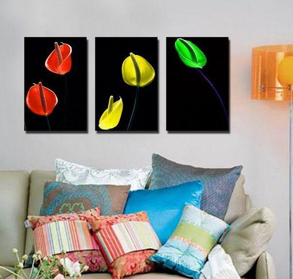 Güzel antoryum çiçek güzel resim tuval üzerine giclee baskı ev dekor duvar sanatı set30296
