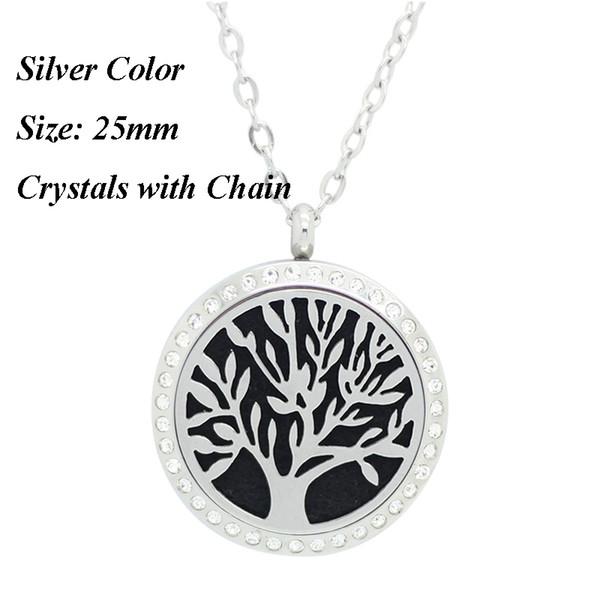 25мм серебро камень